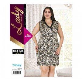 Lady 6620 Pijama Battal Büyük Beden Tunik Gecelik - 2XL - 3XL - 4XL