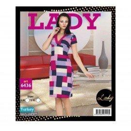 Lady Art 6436 Kısa Kol Tunik Gecelik
