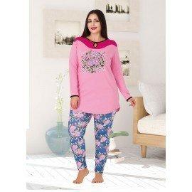 Lady 188 Battal Boy Büyük Beden Uzun Kol Pijama Takımı