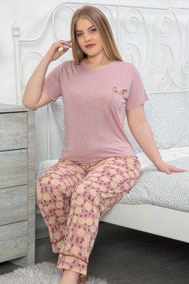LeMaries 10118 Battal Boy Pijama - LeMaries Büyük Beden Kısa Kol Pijama Takımı