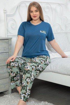 LeMaries 10119 Battal Boy Pijama - LeMaries Büyük Beden Kısa Kol Pijama Takımı