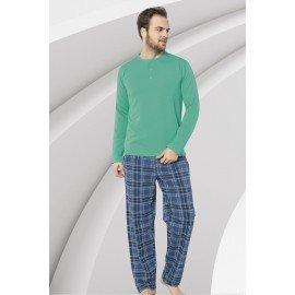 Uzun Kollu Erkek Pijama Takımı Aydoğan 3914 Bordo Renk Pijama Takımı