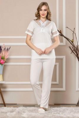 Erdeniz 0208 Hamile Pijama Takımı - 2'li Set Lohusa Pijaması
