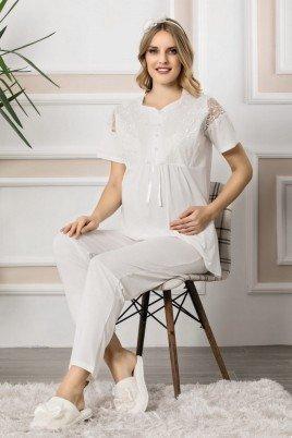 Erdeniz 1100 Hamile Pijama Takımı - 2'li Set Lohusa Pijaması