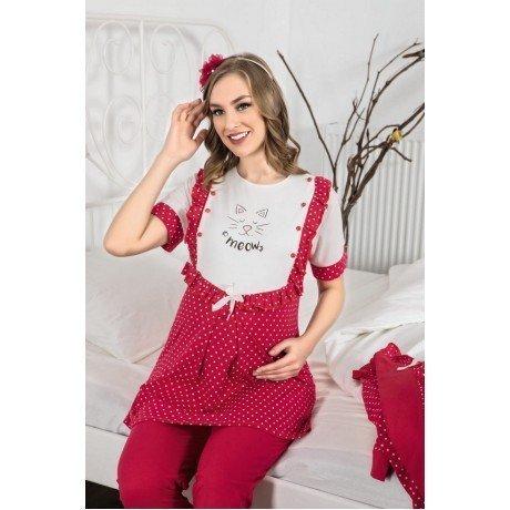 Erdeniz 3317 Hamile Pijama Takımı - 3lü Set Lohusa Pijaması