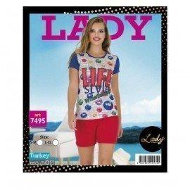 Lady İç Giyim 7495 Şortlu Pijama Takımı - Art 7495