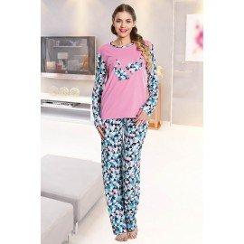 Lady Uzun Kollu Pijama Takımı - Art 9266