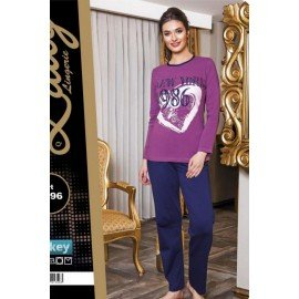 Lady Uzun Kollu Pijama Takımı - Art 9296