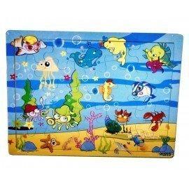 25 Parça Deniz Canlıları Ahşap Puzzle