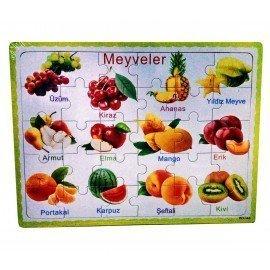30 Parça Meyveler Ahşap Puzzle
