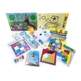 Evde Kal Çocuk Aktivite Paketi 1, Puzzle - Kum Boyama - Origami