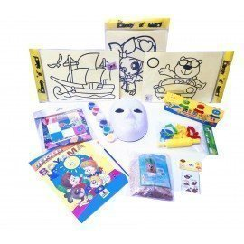 Evde Kal Çocuk Aktivite Paketi 2,Kum Boyama - Origami, Çim Adam