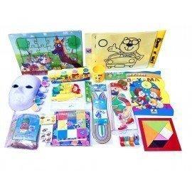 Evde Kal Çocuk Aktivite Paketi 4, Puzzle - Kum Boyama, Hacivat