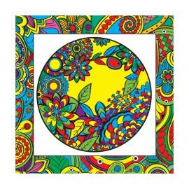Kumtoys Çiçek Desenli Tuval Mandala