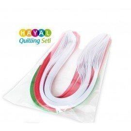Gül Serisi 3 Farklı Renkli 300 Adetli Quilling Kağıdı
