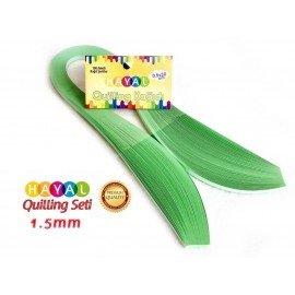 1.5 mm Açık Yeşil Renk Quilling Kağıdı - 100'lü