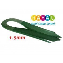 1.5 mm Koyu Yeşil Renk Quilling Kağıdı - 100'lü