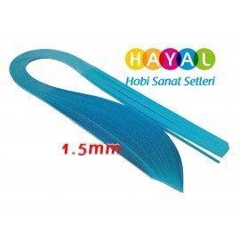 1.5 mm Mavi Renk Quilling Kağıdı - 100'lü