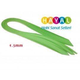 1.5 mm Yeşil Renk Quilling Kağıdı Tek Renk - 100'lü