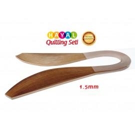 1.5 mm Açık Kahverengi Renk Quilling Kağıdı - 100'lü