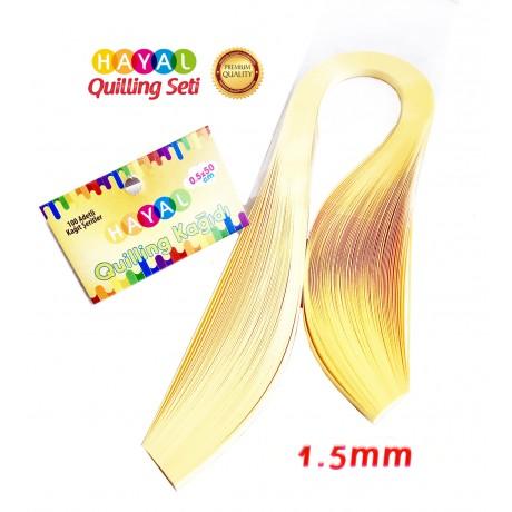 1.5 mm Açık Sarı Renk Quilling Kağıdı - 100'lü