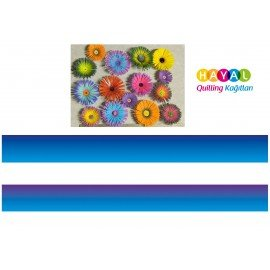 Mavi-Lacivert / Mavi-Mor Renk Geçişli Quilling Kağıdı
