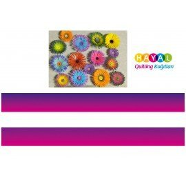 Mor-Pembe / Lacivert-Pembe Renk Geçişli Quilling Kağıdı
