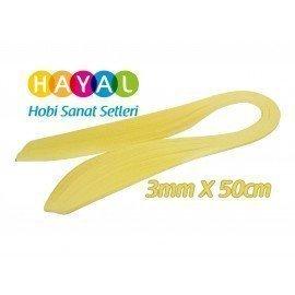 3mm Sarı Renk Quilling Kağıdı - 100'lü
