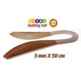 3mm Açık Kahverengi Renk Quilling Kağıdı - 100'lü