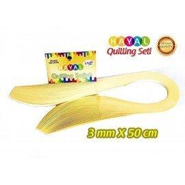 3mm Açık Sarı Renk Quilling Kağıdı - 100'lü