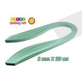 3mm Buz Yeşili Renk Quilling Kağıdı - 100'lü