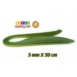 3mm Haki Yeşili Renk Quilling Kağıdı - 100'lü