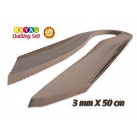 3mm Koyu Gri (Antrasit) Renk Quilling Kağıdı - 100'lü