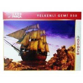 1000 Parça Yelkenli Gemi Resimli Puzzle Yapboz
