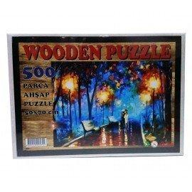 500 Parça Ahşap Puzzle - Parkta Yürüyüş Yapboz
