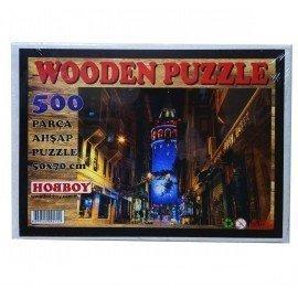 500 Parça Ahşap Puzzle - Galata Kulesi Yapboz