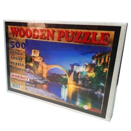 500 Parça Ahşap Puzzle - Monstar Köprüsü Yapboz