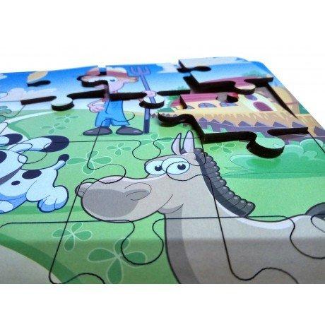 Yunus ve Çocuklar Ahşap Yapboz Puzzle Oyuncak - 24 Parçalı