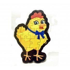 Tavuk Şekilli Ahşap Puzle Yapboz Yeni Ürün