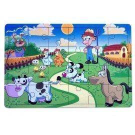 Çiftlik Hayvanları Ahşap Yapboz Oyuncak - 24 Parçalı