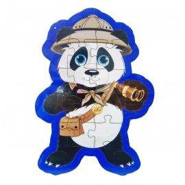 İzci Panda Şekilli Ahşap Puzle Yapboz Yeni Ürün