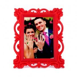 Dekoratif Plastik Fotoğraf Çerçevesi Kırmızı Renk