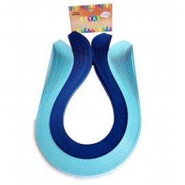 Quilling Kağıdı - Açık Mavi ve Lacivert Renk 200'lü