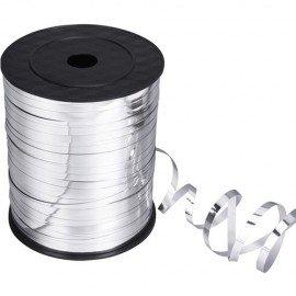 Metalik Gümüş Renk Rafya