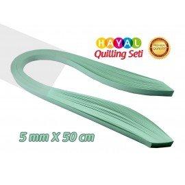 Quilling Kağıdı - Buz Yeşili Renk 5mm 100'lü