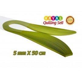 Quilling Kağıdı - Fıstık Yeşili (Neon) Renk 100'lü