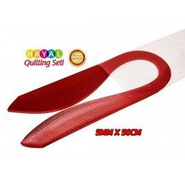 Quilling Kağıdı - Kırmızı Renk 5mm 100'lü