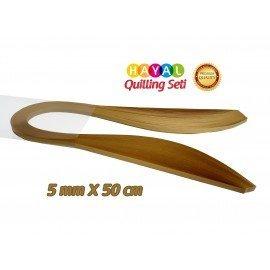 Quilling Kağıdı - Muz Sarısı Renk 5mm 100'lü