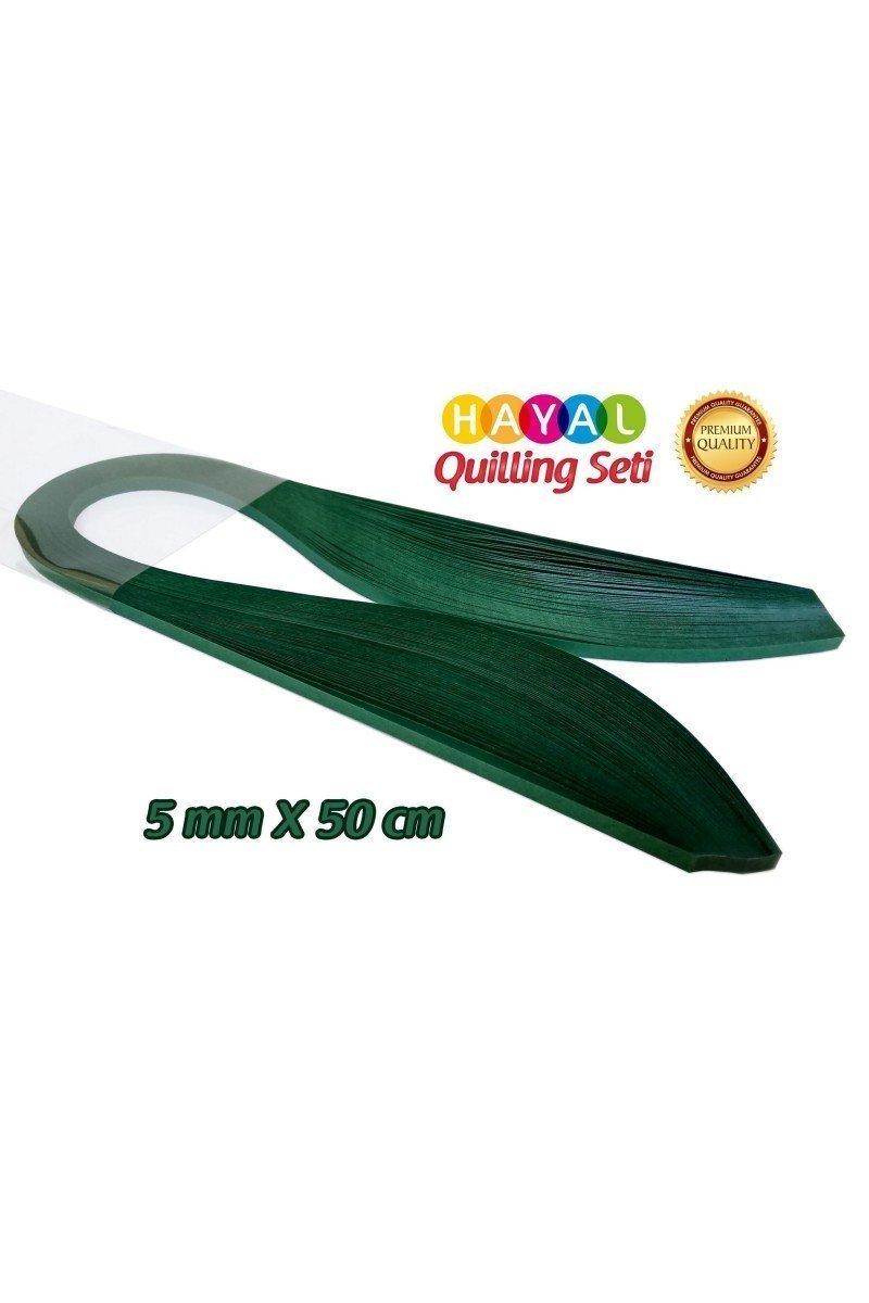 Quilling Kağıdı - Petrol Yeşili Renk 5mm 100lü