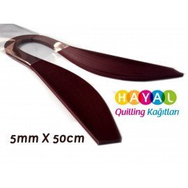 Quilling Kağıdı - Vişne Renk 5mm 100'lü